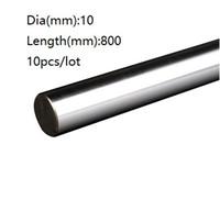 10 шт./лот 10x800mm диаметр 10 мм линейный вал 800 мм длинный закаленный вал подшипник хромированный покрытием стальной стержень бар для 3D принтер частей cnc маршрутизатор