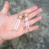 코르크 작은 소원 병을 가진 작은 유리제 단지 100pcs 22 * 50 * 12.5mm 10ml