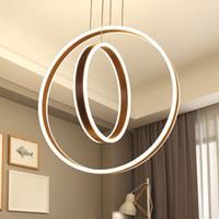Lámpara colgante de alambre lámparas de araña accesorios creativos redondos acrílico forma de onda isla LED colgante de techo moderna luz con CE