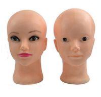 modelo de la cabeza del maquillaje cabeza del sombrero de la cabeza del maniquí de las mujeres modelo de la cabeza femal de la peluca