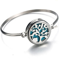 Tree of Life Aromatherapy Diffuser Locket Bracelet 316L Stai...