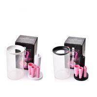 Pinceles de maquillaje eléctrico profesional limpiador y secador de rotación automática Maquillaje cepillo lavadora conjunto blanco negro