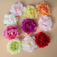 홈 파티 장식 웨딩 장식 EMS 무료 배송의 경우 6 인치 인공 모란 꽃 실크 꽃 장식 꽃 가짜 모란 헤드