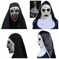 The Nun Cosplay Mask Costume Latex Prop Helmet Valak Hallowe...