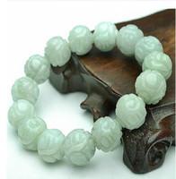 ength: 20cmUn carico di perle di giada naturale bracciale di giada modelli maschili e femminili Lotus Pearl sub 13mm perle di giada Burma con certificato