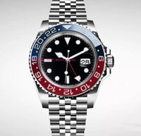 40mm 2018 새로운 럭셔리 남성 손목 시계 바젤 레드 블루 스테인레스 스틸 시계 126600 자동 무브먼트 망 시계 새로운 도착 무료 배송