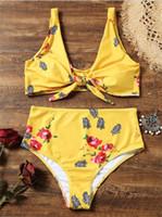 여름 새 도착 여자 비키니 인쇄 레이디 21sl에 대 한 인쇄 된 브래지어 두 PC 정장 수영복 비치 수영 착용 세트