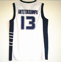 Письмо Греция Национальная команда Белый баскетбол Джерси, 2018 Новый Antetokounmpo 13 Баскетбольные майки Рубашки, Тренеры Баскетбол Майки Топы