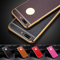 Lichee Soft TPU Rubber Electroplating Plating Leather Slim C...