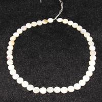 Мода Шарм ювелирные изделия DIY серьги аксессуары натуральный белый shell прямое отверстие круговой кусок бисера
