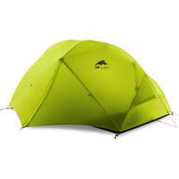 Tenda da campeggio a doppio strato in tessuto siliconico 210T / 15D da 2 persone con cambio in acciaio inossidabile 3F spedizione gratuita DHL
