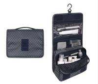 Unisex Portable Waterproof Multifunctional Hook Cosmetic Travel Bag Hanging Toiletry Wash Bag Creative Printing Collection Bag
