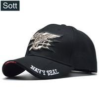 [SOTT] 여름 쿨 남성 US 해군 씰 캡 에어 소프트 전술 뼈 Gorras 야구 모자 육군 모자 Solider Casquette