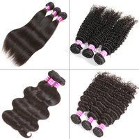 Peruvian Straight Human Hair Bundles Unprocessed Brazilian V...