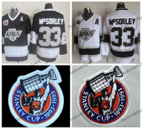 Vintage 1993 Coupe Stanley 100e Kings de Los Angeles Marty McSorley Chandails de hockey LA KINGS 33 Marty McSorley Chemises de hockey cousues A Patc