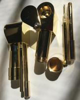 Brass Proto Pipe Vaporizer 3.15 pollici in metallo portatile Pipa di fumo d'oro colore ultimo strumento tabacco tubo di sigaretta olio secco erba ciotola nascosta