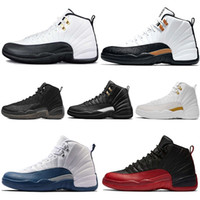 Newest Mens 12s CNY Basketball Shoes Taxi Black White The Ma...