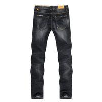 Kstun Jeans für Männer Frühlings-Herbst-schwarze gerade Slim Fit Jeans Hosen-Stretch-Hose Casual Male Mann Homme freies Verschiffen