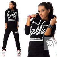 2018 New Arrival Letter Printed Women Active Sets Tracksuits...