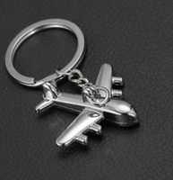 Airplane Bag Keychain Pendant Holder Alloy Plane Keychain Mi...