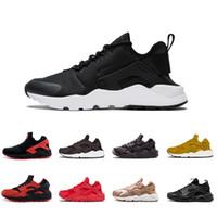 sports shoes fee17 1ff6a ACE Huarache 4.0 IV 1.0 Chaussures De Course Classique Triple Blanc Noir  Noir Hommes Femmes Marque