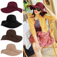 8 colores para mujer sombreros Fascinator sombrero para mujer gorra de lana de ala ancha fieltro Bowler Fedora sombrero sombreros de disquete para mujer sombreros sombrero de invierno