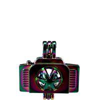 10 pz / lotto Arcobaleno Colore Camera Perle Perline Gabbia Locket Pendant Diffusore Profumo Aromaterapia Oli Essenziali Diffusore Floating Pom