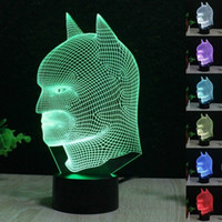 Batman 3D LED Night Light 7 Color Change Touch Table Lamp De...