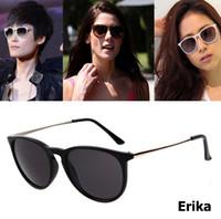 Moda mujer estilo Oval Erika Velet gafas de sol Vintage diseñador de la marca Cat Eye gafas de sol gafas de sol Feminino