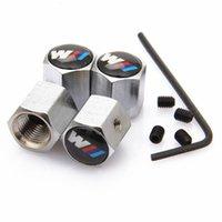 뜨거운 4pcs / lot 잠글 수있는 도난 방지 자동차 바퀴 타이어 밸브 타이어 스템 공기 캡 밀폐 커버 Jaguar Benz BMW M3 M5 E60 E90 x1 x3 x5