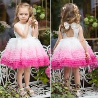 Niña de las flores árabe floral de encaje vestido de bola de los vestidos del desfile de vestidos infantiles 2020 Mei rojo embroma vestido formal FlowerGirl
