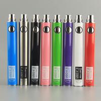 UGO-V II elektronische Zigaretten Vape Pen Akku EGO EVOD 510 Gewinde Batterie Micro USB-Passthrough-Ladegerät 650mAh Vape Cartridges Batterie