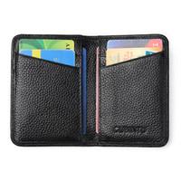 titolare della carta di credito passaporto in pelle pregiata pelle bovina RFIF vintage ultra sottile di alta qualità di vendita calda