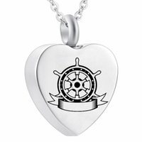 Kompass Cremais Schmuck Edelstahl Urne ure Cremation Halskette Erinnerungskette Halskette