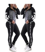 Love Pink Sports Suit Pants Hoodies set Hooded women girls Z...