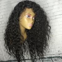 الدانتيل أمامي الباروكة قبل التقطت للنساء السود عذراء البرازيلي الشعر البشري مجعد الأمامي الباروكات مع شعر الطفل