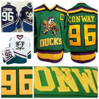 Mighty Ducks Movie 96 Charlie Conway Jersey Worn 1993-94 Green Stitched  Sewn Anaheim Ducks Vintage Charlie Conway Hockey Jerseys S-XXXL 2a52f5e06