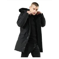 عالية الجودة سميكة الدافئة سترة الرجال مقنعين طويل عارضة سليم سترة واقية الرجال الشتاء سترة معطف