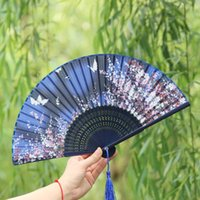 2017 Japan Silk Dance Fan Hand Fan bamboo folding butterfly ...