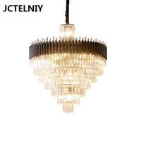 Luz de luxo lustre de cristal sala de jantar lustre de mesa bar clube nórdico moderno luxo lâmpadas led