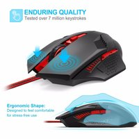 TeckNet Raptor Gaming Mouse 2000 DPI 6 Button Extra Weight O...