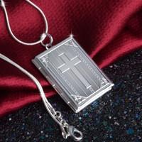 Joyas de plata Colgante de Moda Fina Caja de Cruz colgante 925 joyas plateadas Collar Colgantes Collar de regalo de moda de Calidad Superior