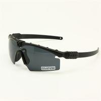 Óculos polarizados Exército Ballistic Militar Goggles Homens Quadro Anti UV 3/4 Lens Night Vision Combate Guerra Jogo eyeshields