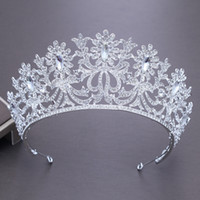 Crystal New Silver Atmosphere Crown Europeo Abito da sposa nuziale Corona di cristallo artificiale Accessori per capelli eleganti Copricapo
