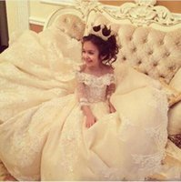 Ball Gown Off Shoulder Lace Applique Flower Girl Dresses For...