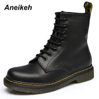 Aneikeh Women Ankle Boots Shoes Woman 2018 Spring Fall Genui...