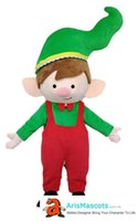 Adult funny Christmas Boy mascot costume elf outfit cartoon ...