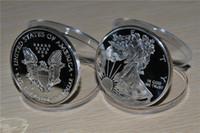 Spedizione gratuita 10pcs / lot, 2014 1oz argento American Eagle Coin .999 Fine un dollaro BU uncirculated, effetto specchio