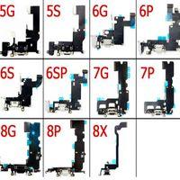 iPhone 5 için 5s 6 6s 6 Artı 6s Artı 7 7plus 8 Liman Flex Kablo Değişimi Şarj% 100 Orijinal dock Şarj Bağlayıcı
