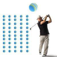 10pcs prática interior Traning Elastic Rainbow Stripe Golf Esponja Bola De Espuma De Peso Leve atacado
